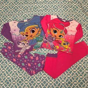 Nickelodeon Shimmer and Shine Pajamas Size 8